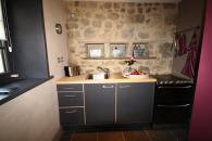 cuisine de la PICHONNA cottage de charme 5 étoiles pour 4 personnes piscine, tennis et parc privés Nouvelle Aquitaine